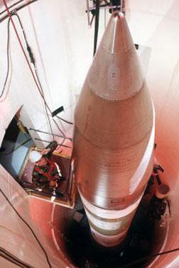 LGM-30G Minuteman III missile.