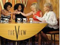 Michelle Obama on The View. Click image to expand.