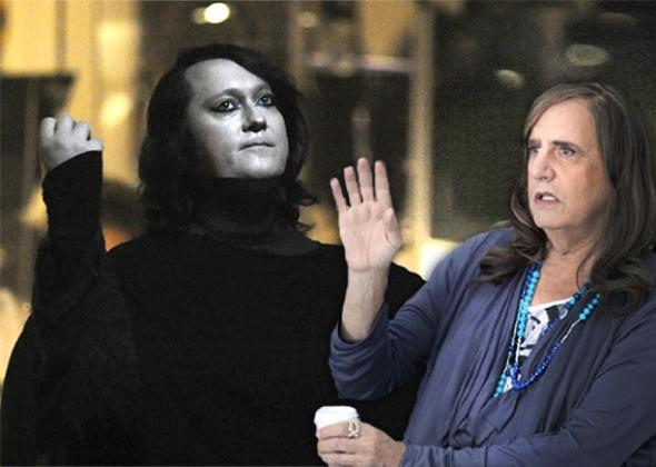 Antony Hegarty of the American band Antony and The Johnsons and Jeffrey Tambor from Transparent.