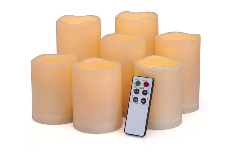 Flameless candles.