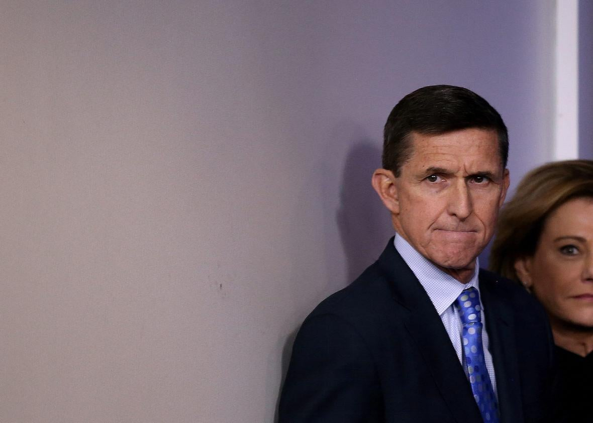 National security adviser General Michael Flynn.