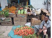 Bountiful carrots in Addis Ababa