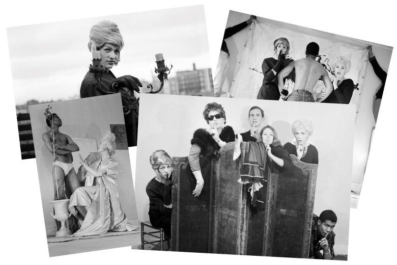 A collection of drag queen photos.