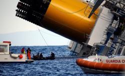 Costa Concordia wreckage.