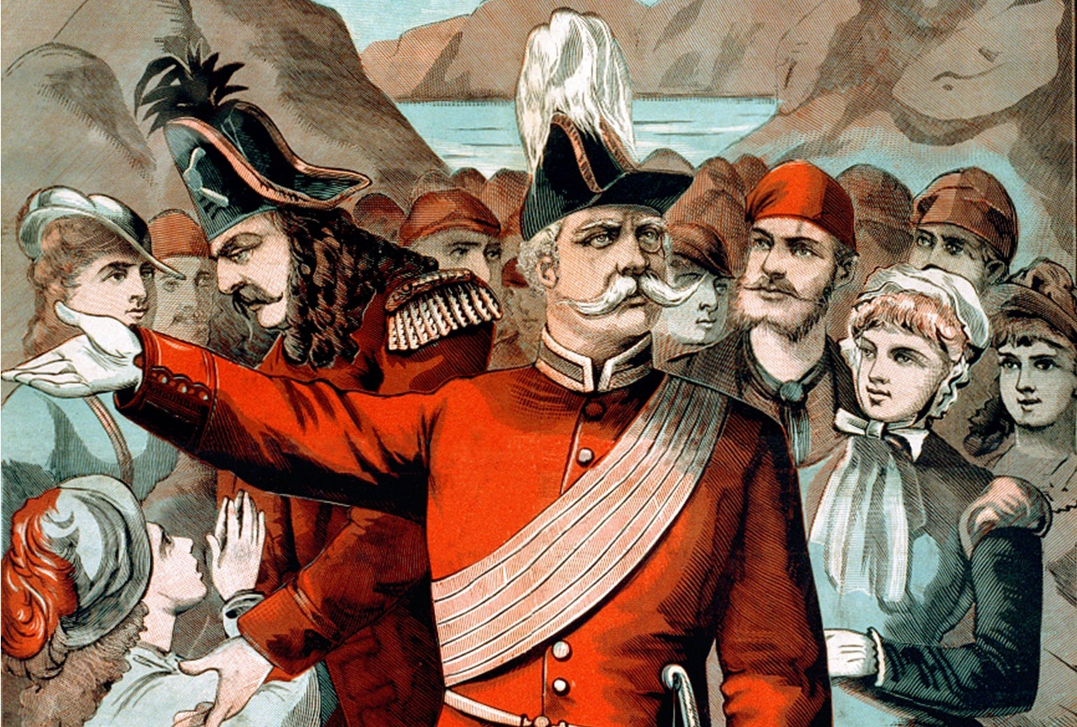 A poster from The Pirates of Penzance.