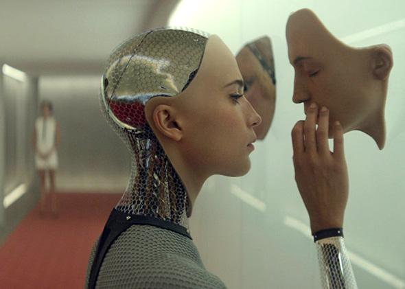 Alicia Vikander as Ava in Ex Machina.