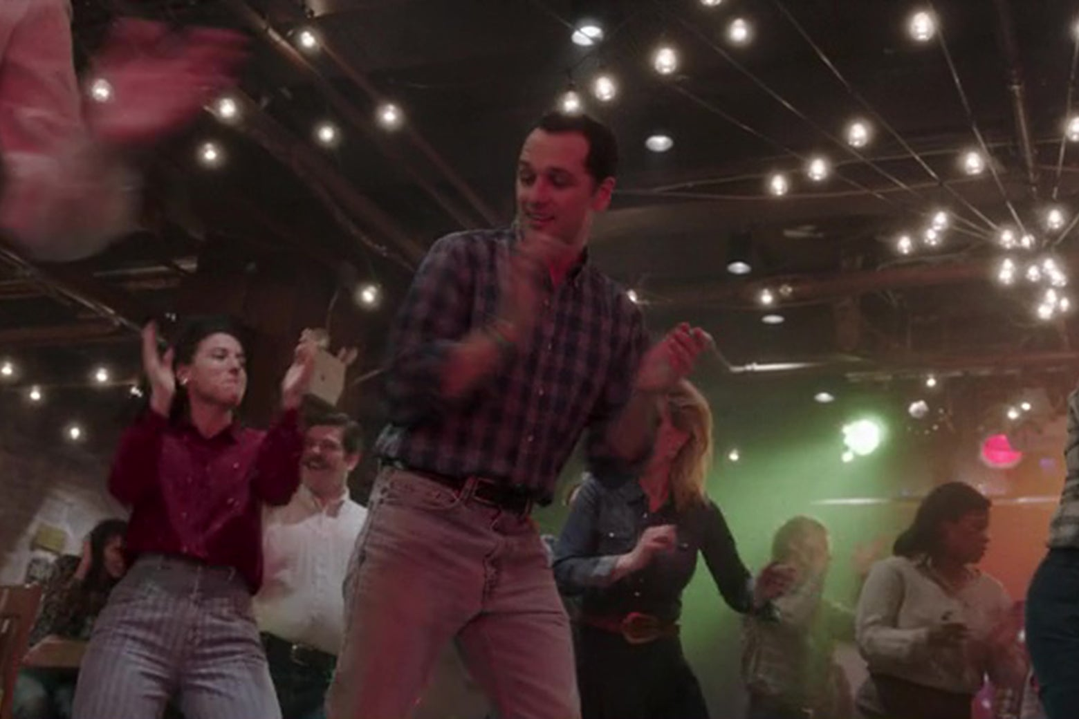 Matthew Rhys line dancing on The Americans.