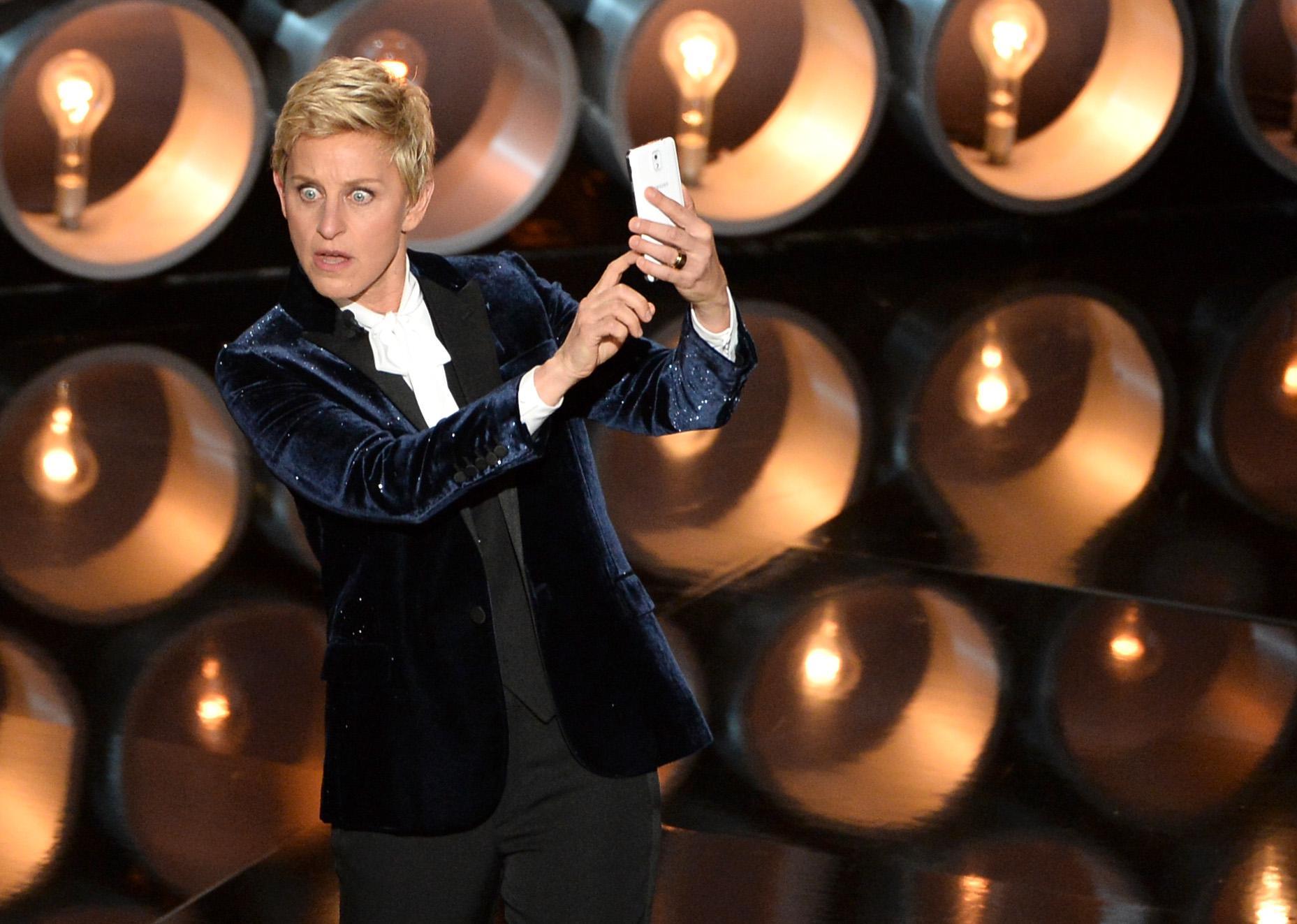 Ellen DeGeneres hosts the Oscars