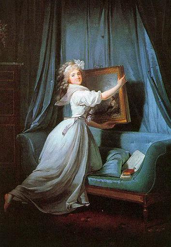 """""""Portrait de Mademoiselle Rosalie Duthé,"""" oil on canvas, 1792."""