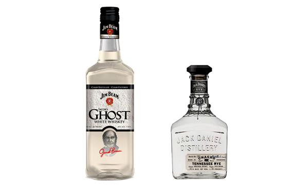 Jim Bean's Jacob's Ghost, and Jack Daniel's Unaged Tennessee Rye.