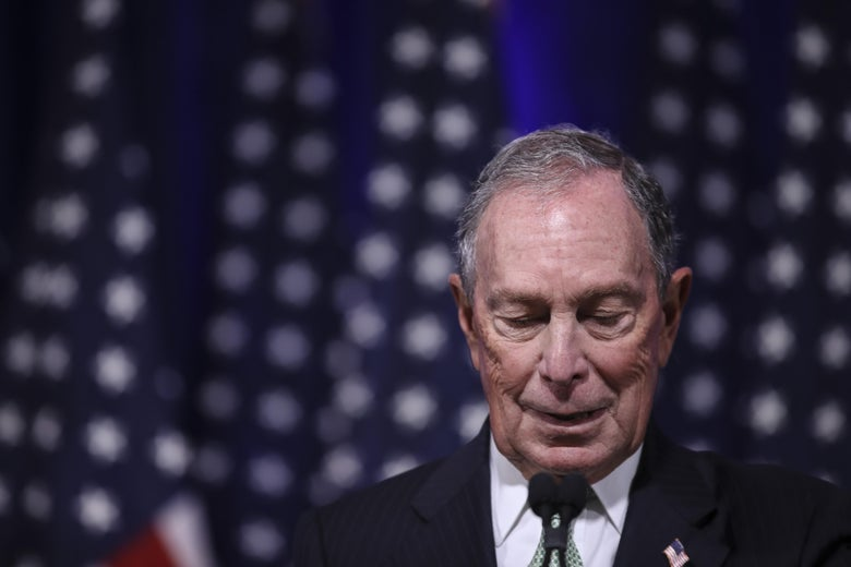 Newly announced Democratic presidential candidate Michael Bloomberg speaks during a press conference to discuss his presidential run on November 25, 2019 in Norfolk, Virginia.
