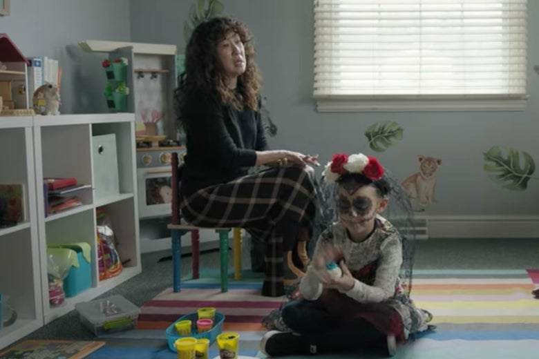 Dr. Kim and Ju Ju in a child therapist's office.