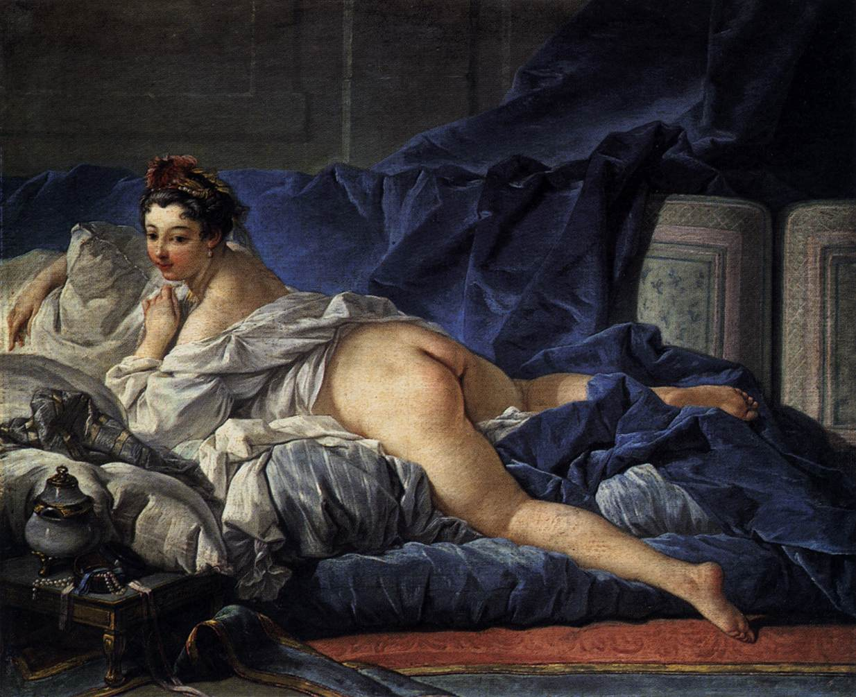 François Boucher's Brown Odalisque, one of the paintings that was depicted in the set of postcards that an art teacher in Utah showed his students on Dec. 4, 2017, leading to his firing.