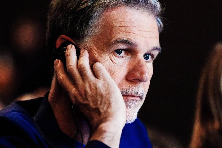 Reed Hastings looks worried.