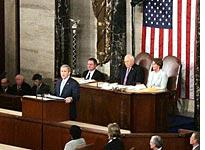 George Bush delivers the State of the Union address. Click image to expand.