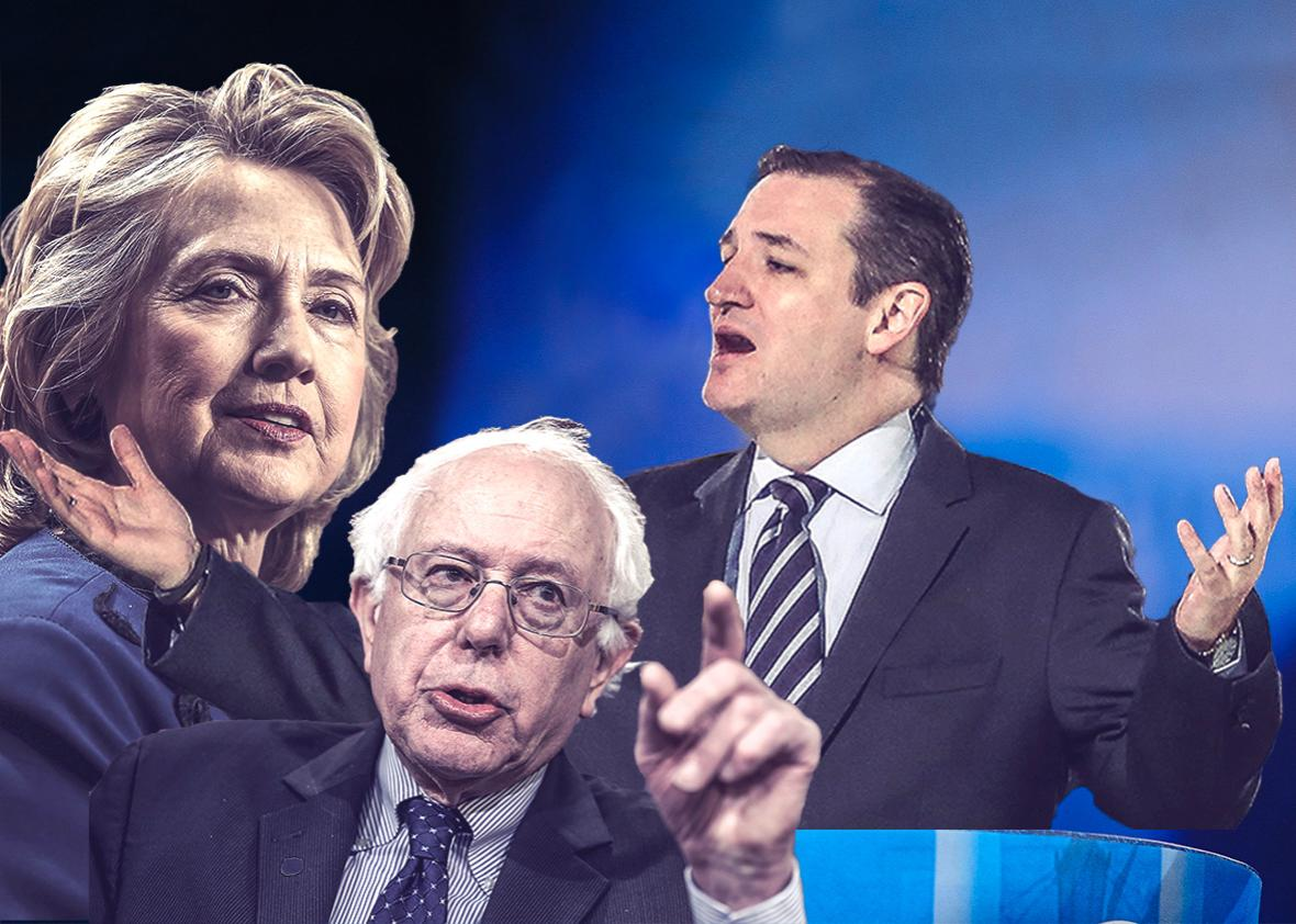 Hillary Rodham Clinton, Former Secretary of State, Sen. Bernie S,Hillary Rodham Clinton, Former Secretary of State, Sen. Bernie Sanders (I-VT), Wisconsin Gov. Scott Walker and U.S. Sen. Ted Cruz (R-TX).