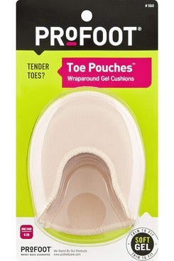 ProFoot Toe Pouches Wraparound Gel Cushion