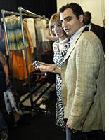 Vogue's Anna Wintour and designer Zac Posen