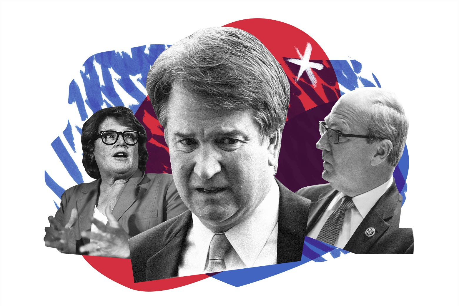 Heidi Heitkamp, Brett Kavanaugh, and Kevin Cramer.