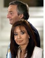 Nestor and Cristina Kirchner. Click image to expand.