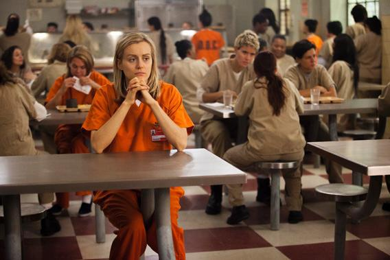 """Taylor Schilling in a scene from Netflix's """"Orange is the New Black."""""""