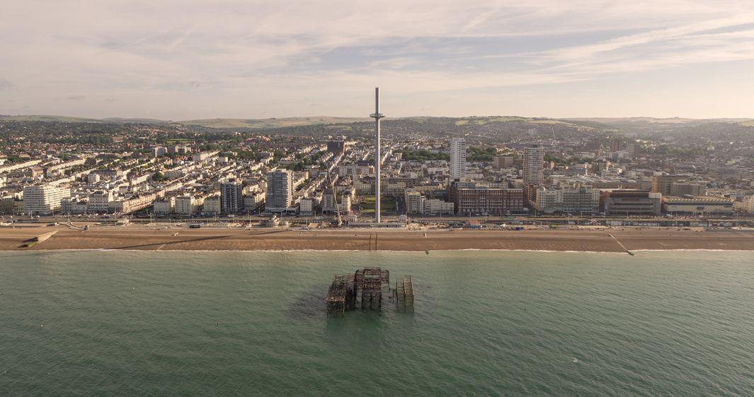 British Airways i360 Drone image 8 inc West Pier Credit Visual Air
