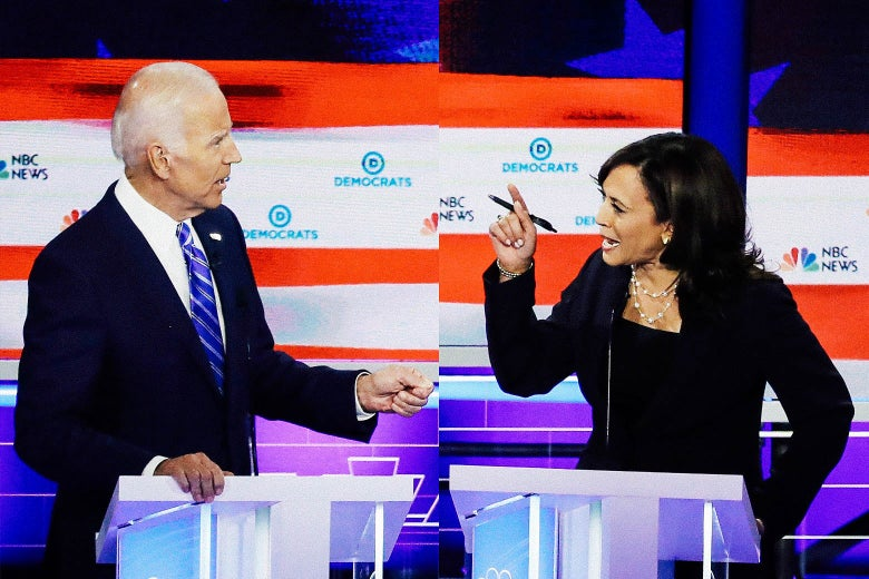 Sen. Kamala Harris and former Vice President Joe Biden.