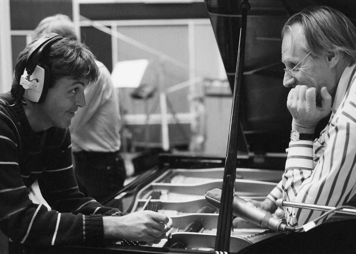 Paul McCartney and George Martin.