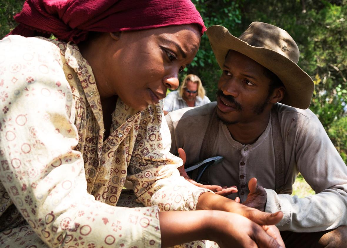 Aunjanue Ellis and Nate Parker in The Birth of a Nation.
