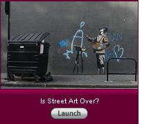 """Click here to launch the slideshow """"Is Street Art Over?""""."""