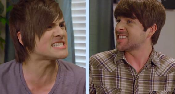 The YouTube comedy team Smosh. Can Google challenge the dominance of TV?