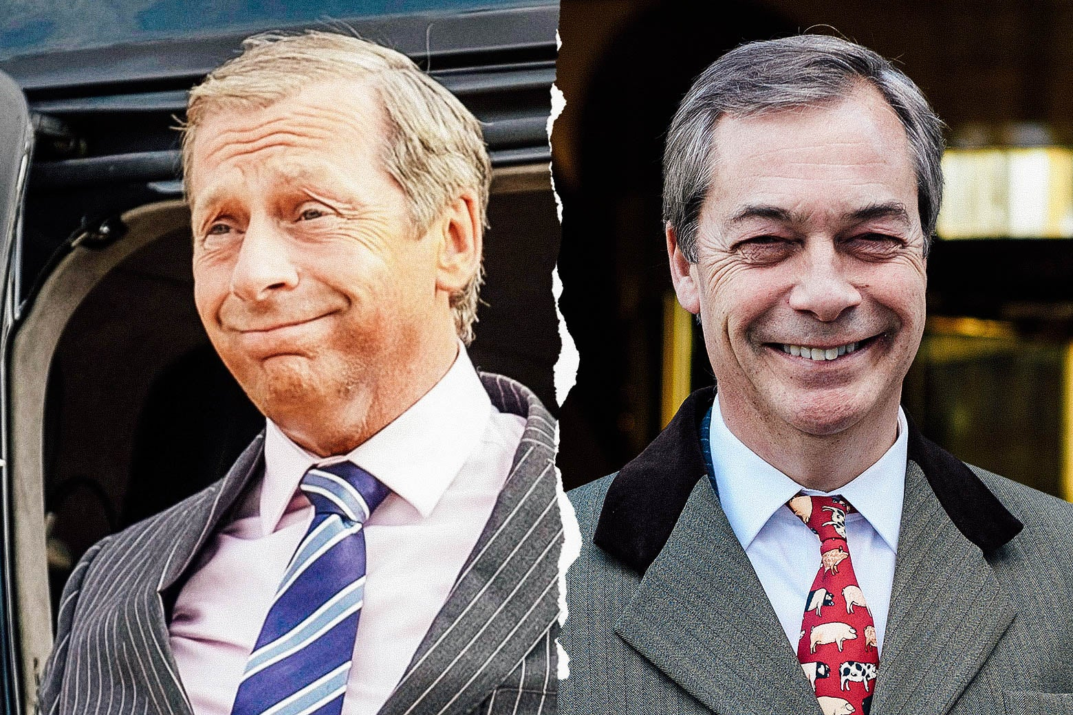 Paul Ryan as Nigel Farage, and the real Nigel Farage.