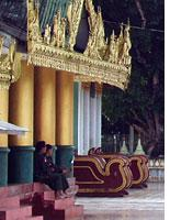 Soldiers at Shwedagon Pagoda. Click image to expand.