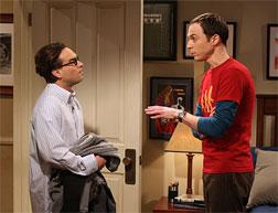 Johnny Galecki and Jim Parsons on The Big Bang Theory.
