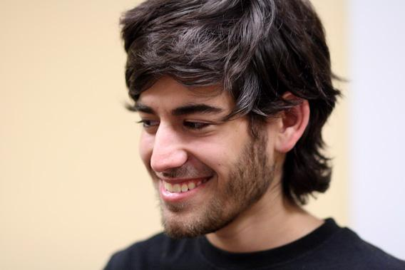 Aaron Swartz at a Boston Wikipedia Meetup in August 2009.