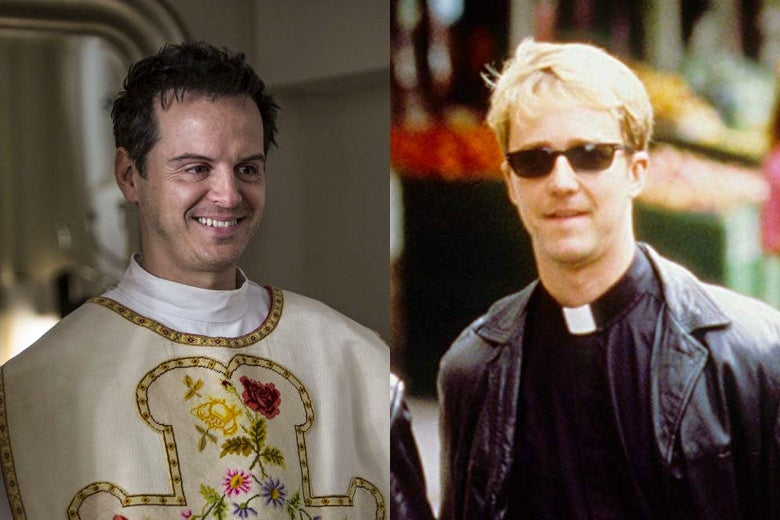 Andrew Scott in Fleabag and Edward Norton in Keeping the Faith.