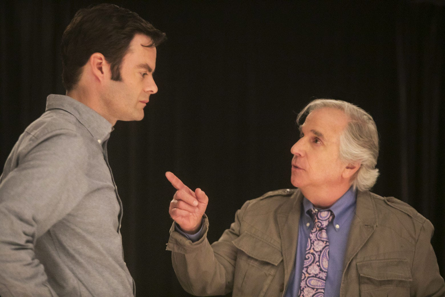 Bill Hader and Henry Winkler in Barry.