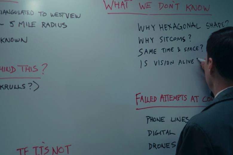 Agent Woo and his whiteboard.