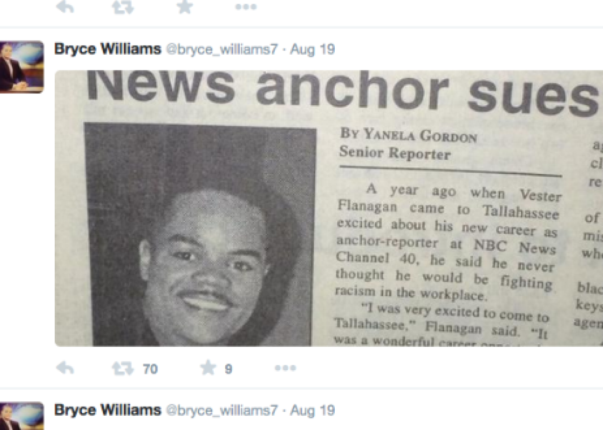 Suspected WDBJ7 shooter Vester Flanagan/Bryce Williams has