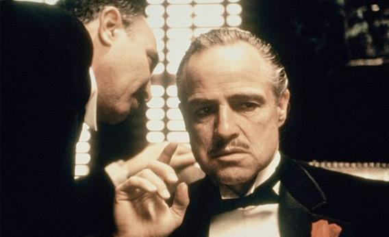 Still of Marlon Brando in The Godfather.