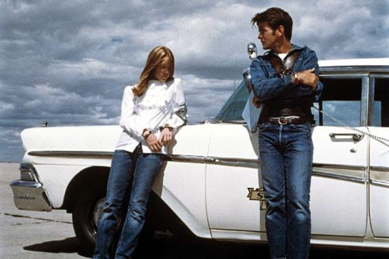 Martin Sheen and Sissy Spacek in Badlands, 1973.
