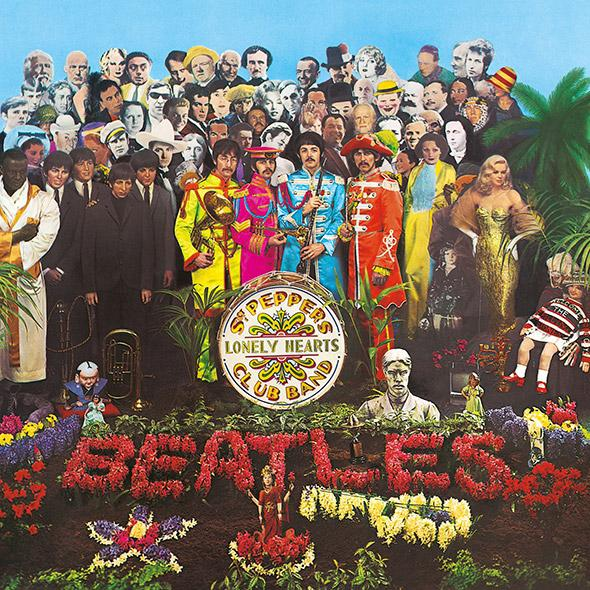 Sgt. Pepper's Lonely Hearts Club Band album cover.