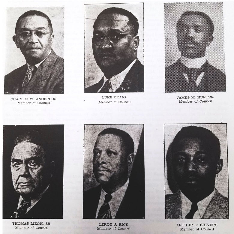 A set of six headshots of Black men.
