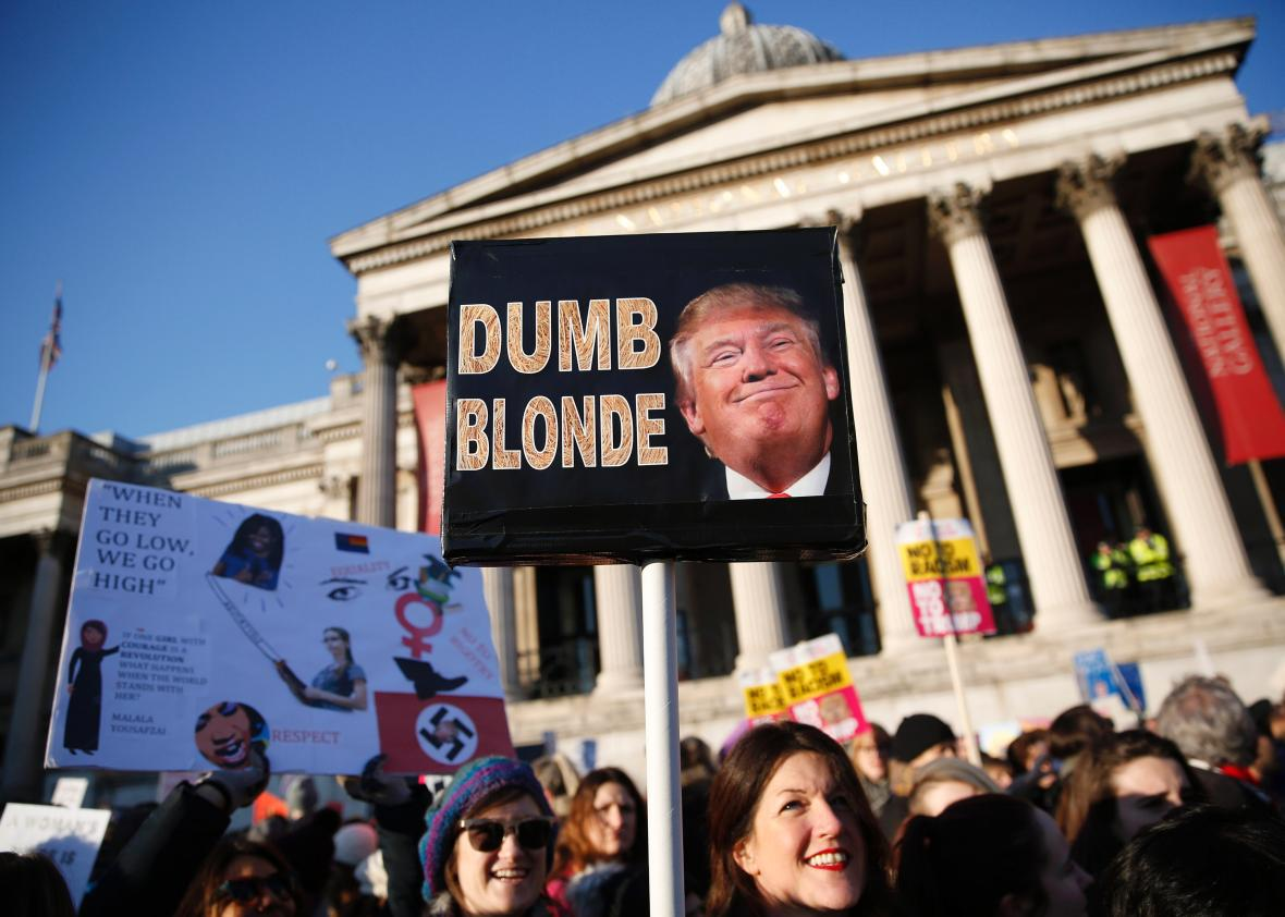 From the Women's March on London.