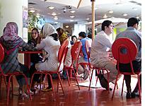 The food court at Jaam-e Jam mini-mall