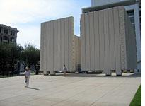 The JFK Memorial in Dallas. Click image to expand.
