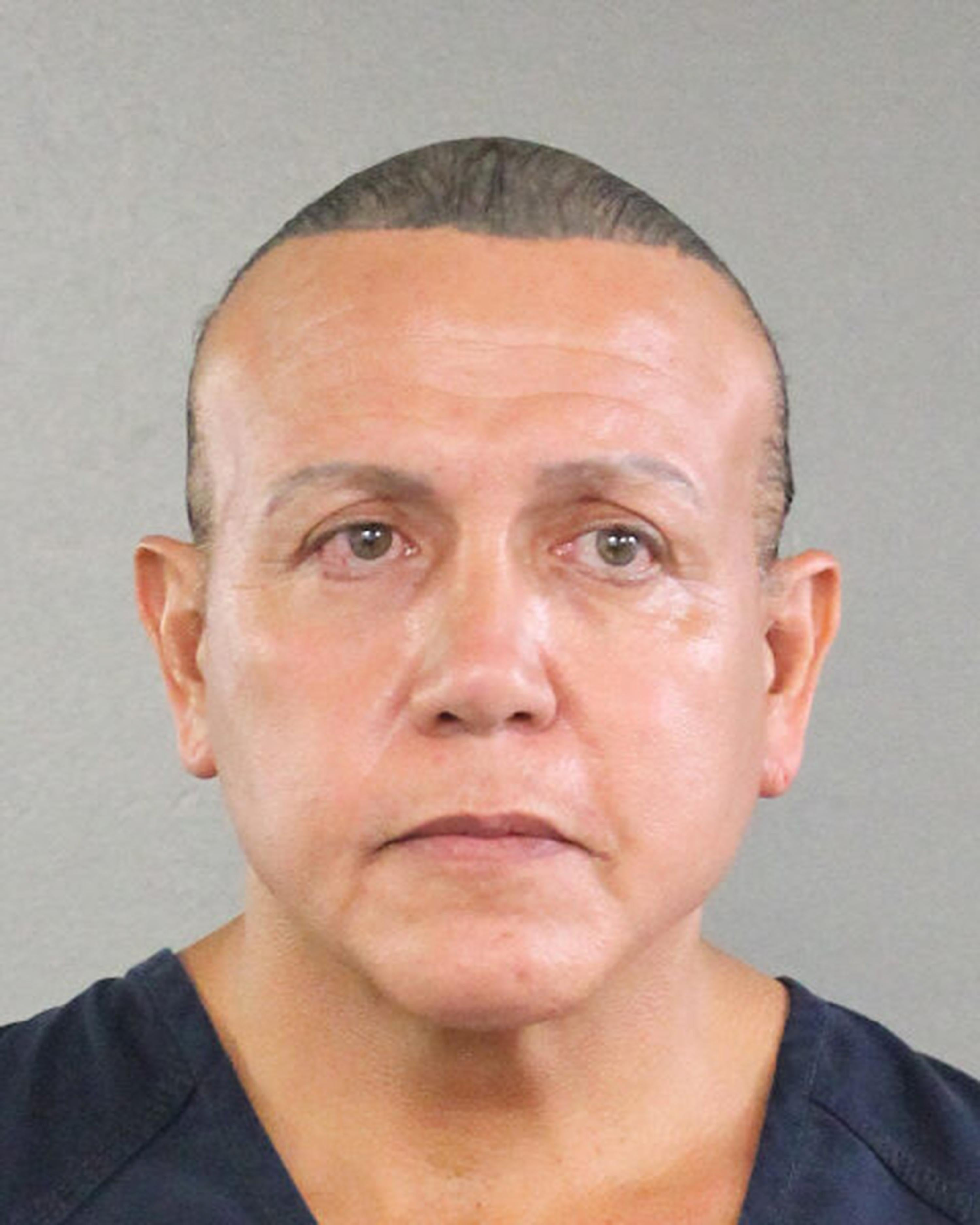 An undated mugshot of Cesar Sayoc, the pipe bombing suspect