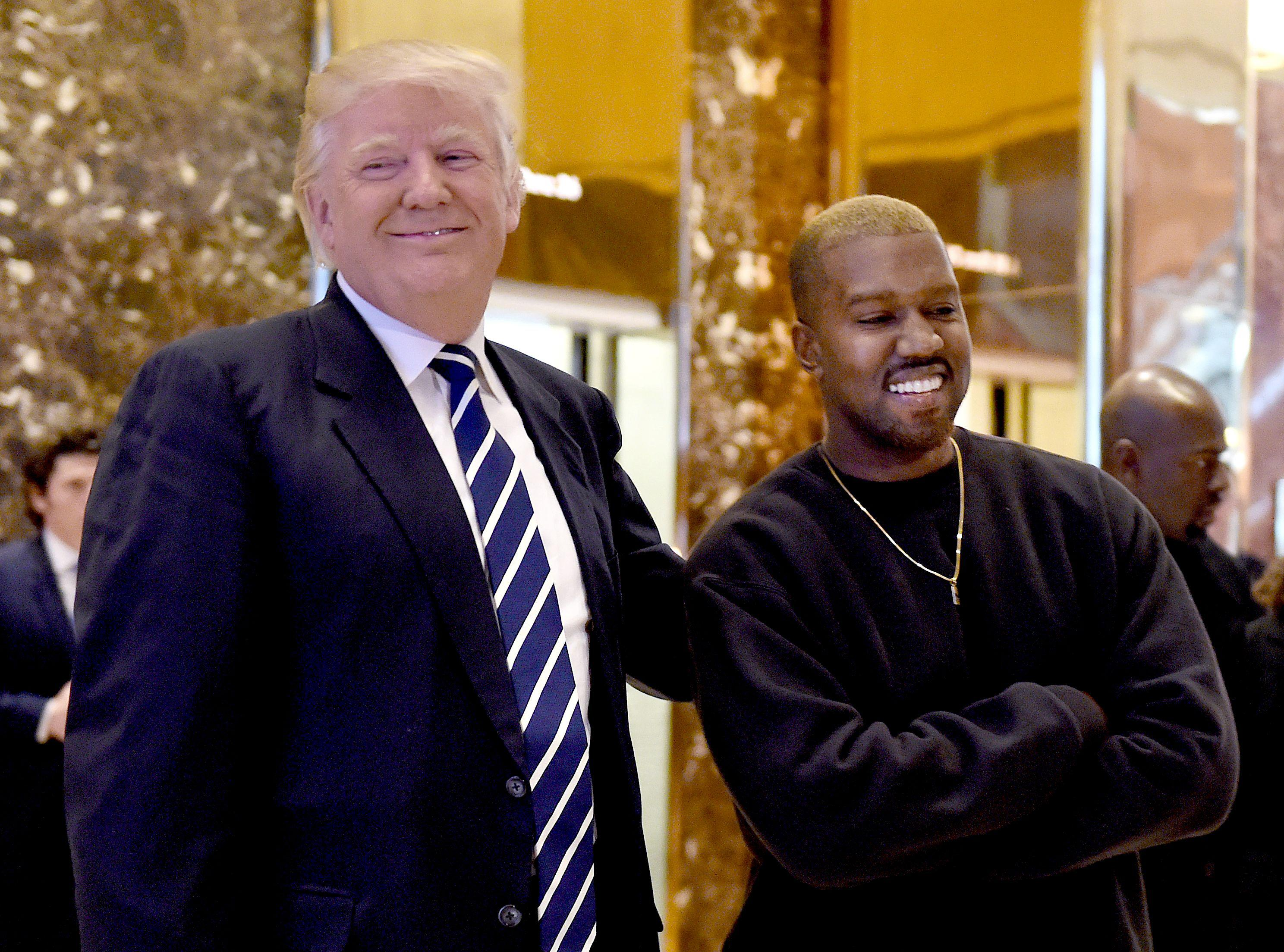 Kanye West and President-elect Donald Trump hanging out.
