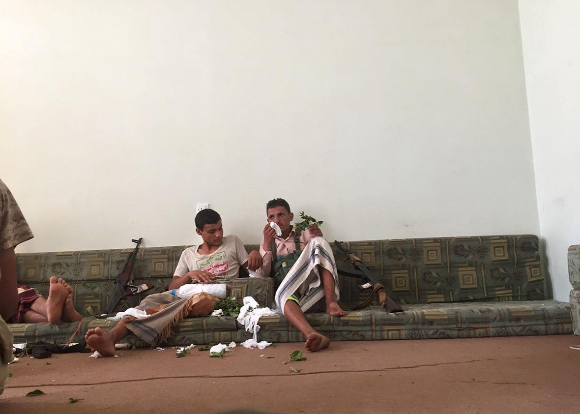 Houthi rebels consume numerous amounts of qat.