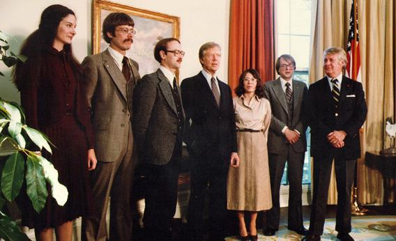 Meeting with President Carter. Lijek stands second from right to left.